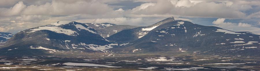 Helags sett från toppen av Stor-Axhögen