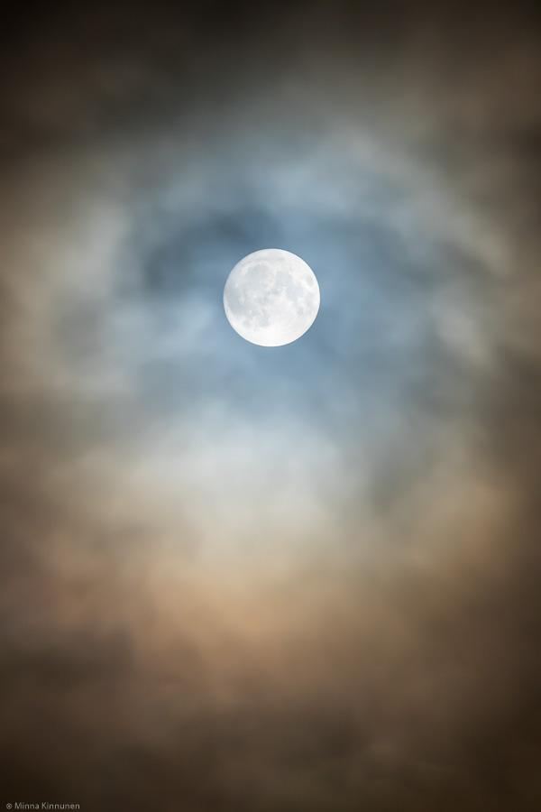 Not so super moon