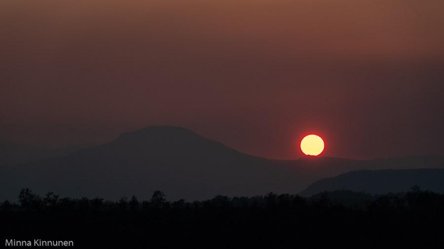 Solnedgång vid Stor-Mittåkläppen